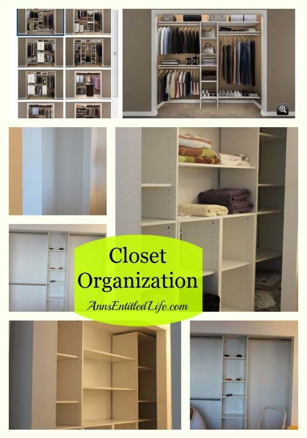 DIY Closet Organization Ideas for Messy Closets and Small Spaces. Organizing Hacks and Homemade Shelving And Storage Tips for Garage, Pantry, Bedroom., Clothes and Kitchen  |   Closet Organization  |  http://diyjoy.com/diy-closet-organization-ideas