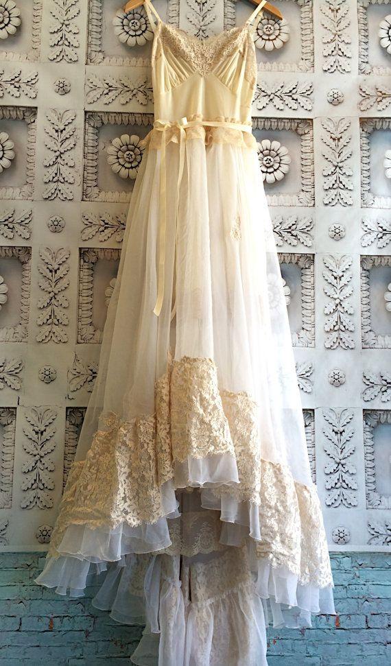 cream nude & white alencon lace appliqué organza chiffon appliqué princess wedding dress by mermaid miss k