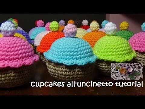 dolcetti all'uncinetto tutorial (ciambella/doughnut) - YouTube