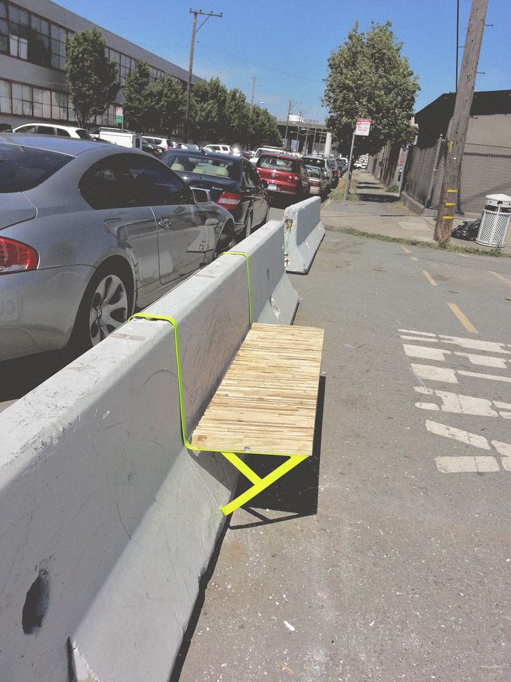 """The Jersey bench is a modular guerrilla urban furniture designed to break the common aesthetics and usage of the generic concrete barriers so-called """"jersey barriers"""" that exist all over the world. It is also made for improving social interactions and occ…"""
