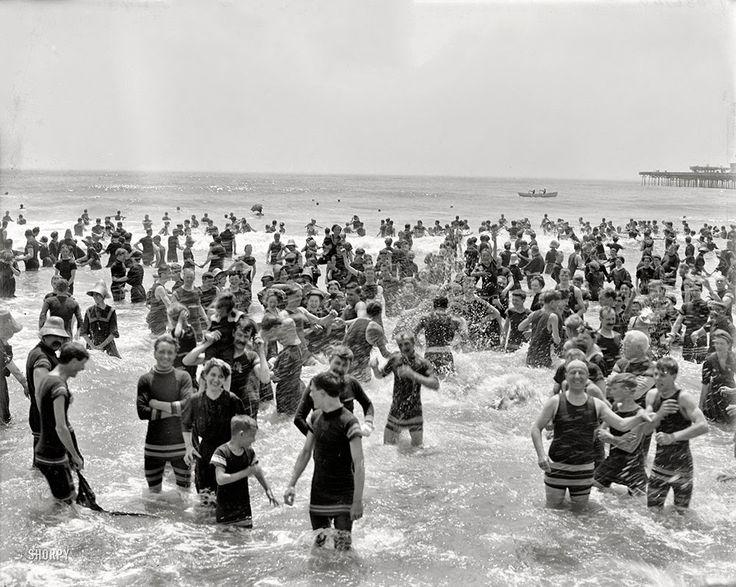Bathers at the jersey shore circa 1910 beach life 1900