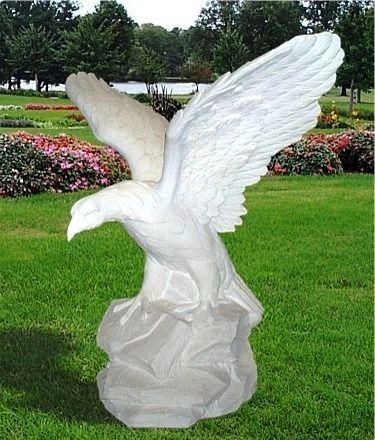 Outdoor Eagle Statue Garden Eagles statue, Marble Eagle statue Large Animals Sculpture Eagle