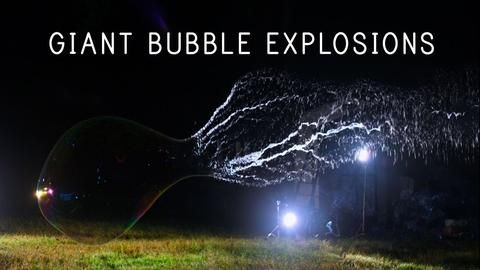 Giant Bubble Explosions
