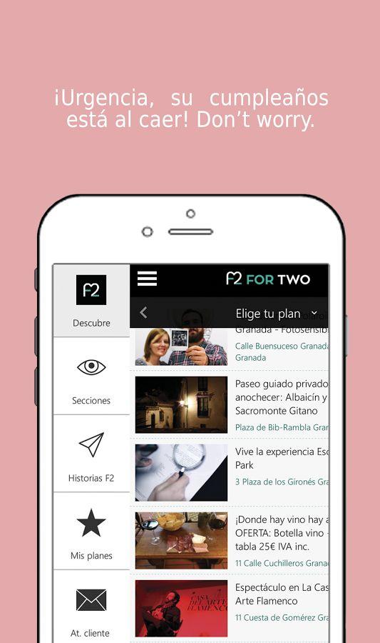 ForTwo | Planes en pareja: captura de pantalla