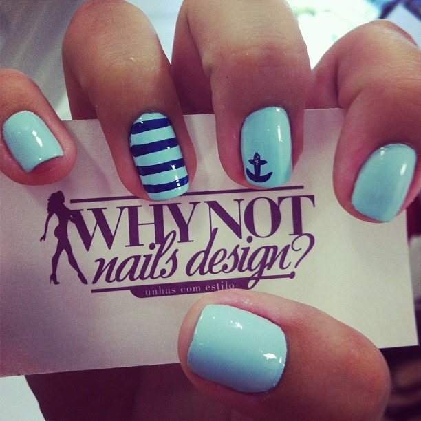 45 best nail design images on pinterest colors enamels and make up marine nail at why not whynotnailsdesign whynotnailsdesign prinsesfo Images