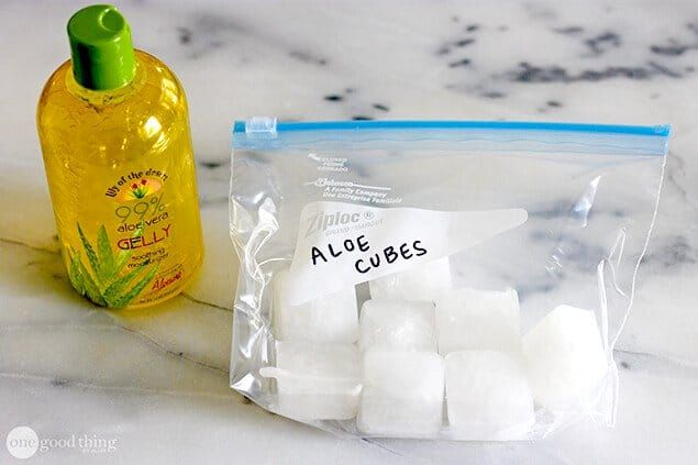 Soothe Summer Skin Woes With Frozen Aloe Vera Cubes Aloe Aloe