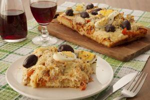 Receita de Torta-pizza de Frango de Liquidificador , Delicioso e fácil de fazer! Aprenda a Receita!