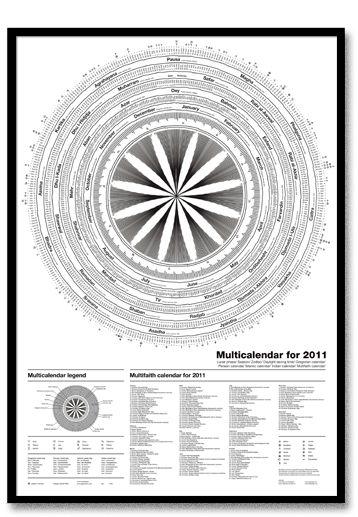 Multicalendar for 2011
