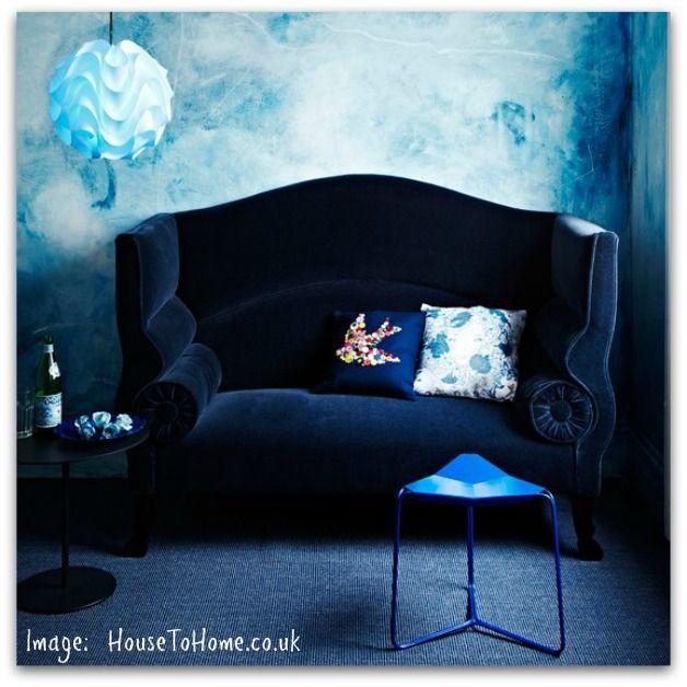 blue rooms blue walls blue living rooms dark walls blue velvet couch