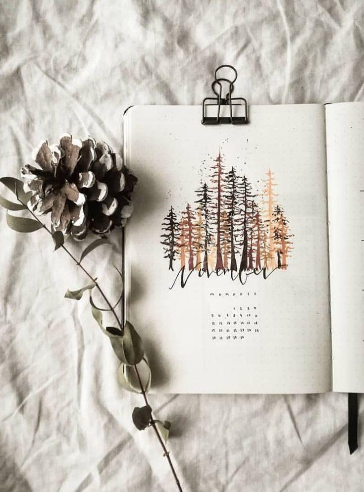 Bullet Journal-Deckblatt – Monatliche Deckblätter