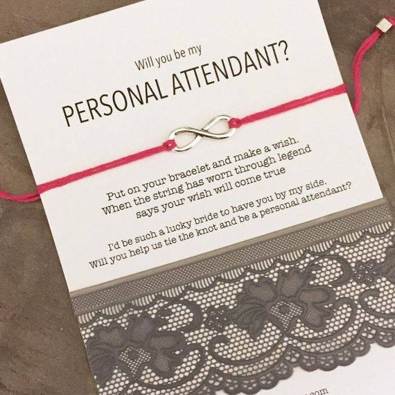 Personal attendant card, Personal attendant gift,  Will you be my personal…