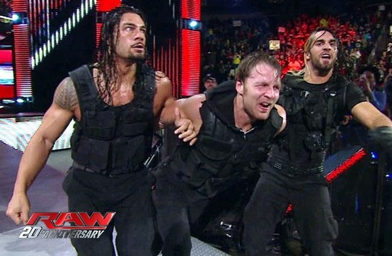 The Shield. Roman Reigns, Dean Ambrose and Seth Rollins.