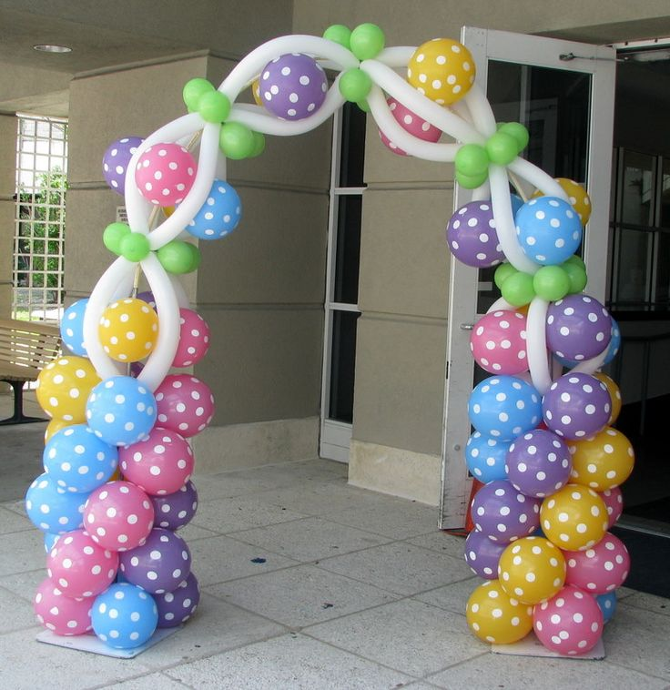 Balloon Arch 97 best Decorao com MalhasBales