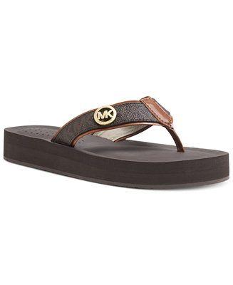 MICHAEL Michael Kors Gage Platform Flip Flops - Sandals - Shoes - Macy's