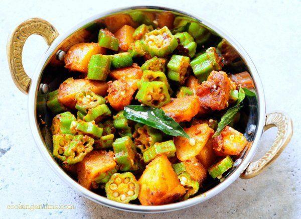 aloo bhindi (potato #okra curry)