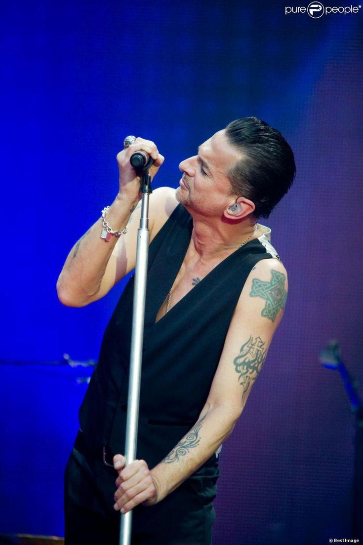 Dave Gahan au concert de Depeche Mode au Stade de France, le 15 juin 2013.