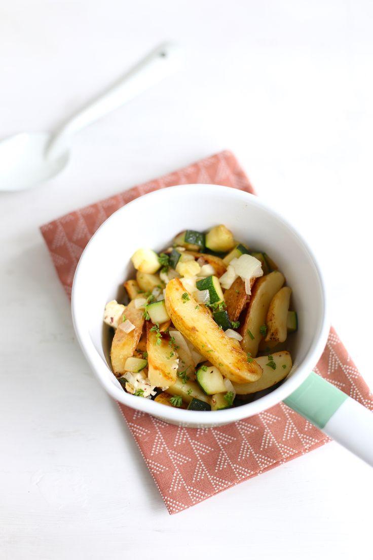 Aardappel-courgettepannetje