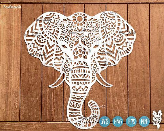 Elephant svg Elephants svg Animal Svg Mandala SvgBoho