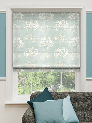 Rosedale Duck Egg Roman Blind From Blinds 2go Curtains