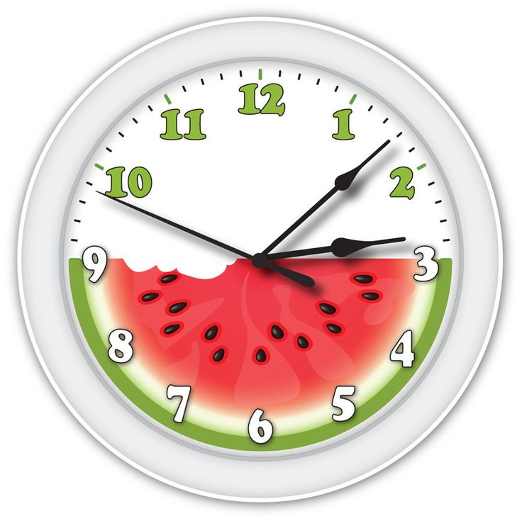 Latest Watermelon Wall Clock Fruit Melon Lovers Art Kitchen Office Decor  Great Gift With Fruit Themed Kitchen Decor