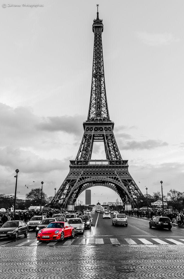 картинки черно белые париж башня