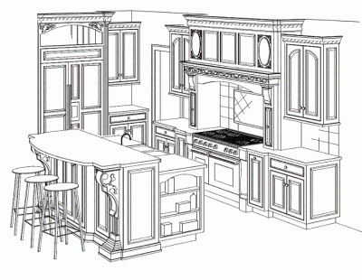 Kitchen Drawing Perspective perspective drawing | i love kitchen's | pinterest | perspective