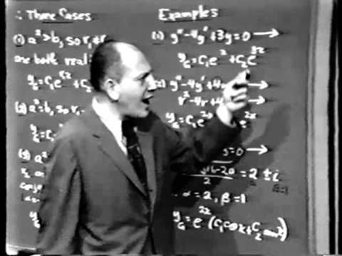Part II: Differential Equations, Lec 3: Solving the Linear Equations L(y) = 0; Constant Coefficients - YouTube