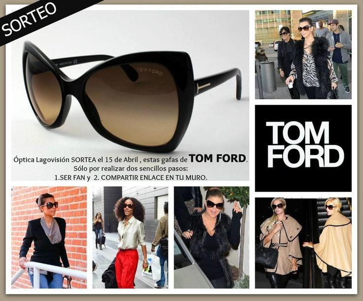 Nuevo SORTEO en Óptica Lagovisión !!  El 15 de Abril, sortearemos unas gafas modelo NICO de TOM FORD. Hazte FAN de nuestra página en facebook y participa!