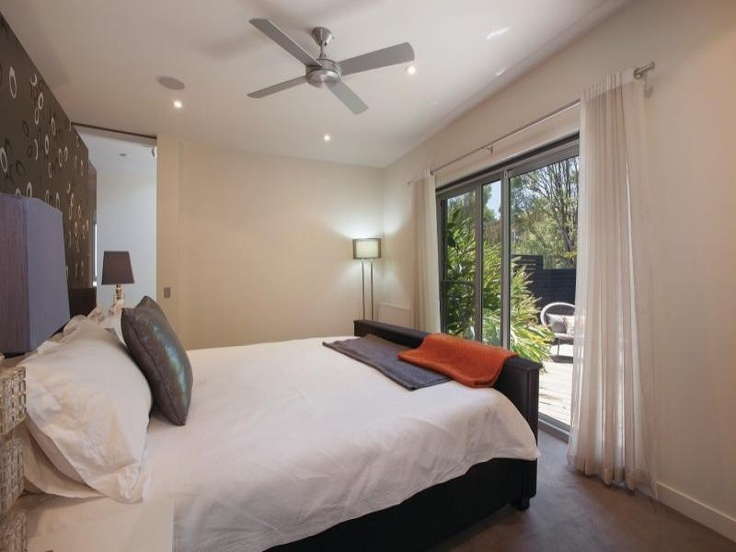 "Master bedroom that has our own private ""courtyard"" - so green fresh and secluded"