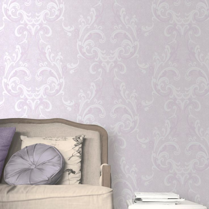Muriva Juliette Damask Wallpaper - Lilac - http://godecorating.co.uk/muriva-juliette-damask-wallpaper-lilac/