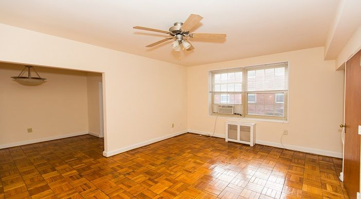 Spacious floorplan with beautiful hardwood parquet floors and tons of natural light   Click to see which apartments are available now   1401 Sheridan Apartments in Brightwood   WC Smith