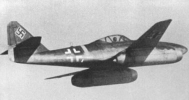 The Messerschmitt Me-262 was the first jet fighter to enter operational service. It was a superb day and night bomber interceptor, with a speed advantage so great, and armament so powerful, that it could easily intercept and destroy allied heavy bombers, while practically ignoring their swarms of piston-engined escort fighters, and the bombers' own gun turrets.