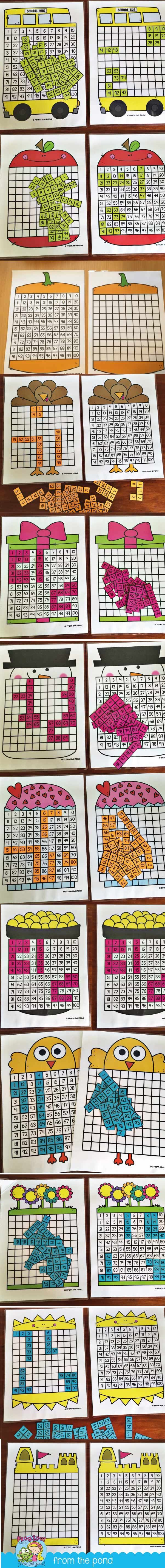 100 Chart Puzzles Year Bundle + Freebie