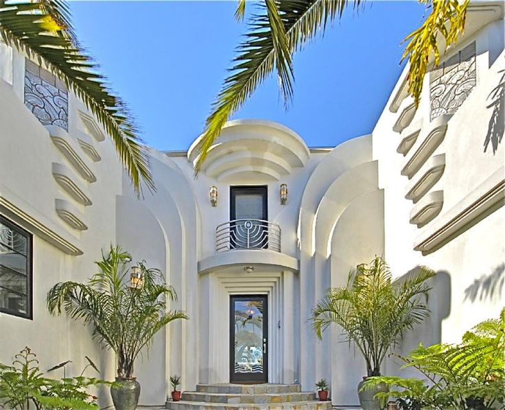 Art Deco Home Entry Exterior