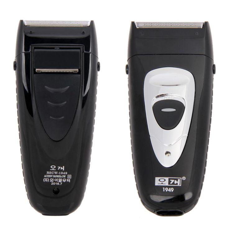220 V-50Hz הדדיות מכונת גילוח חשמלי מכונת גילוח חשמלי ניידת נטענת ראש כפול לגברים שחור הגילוח