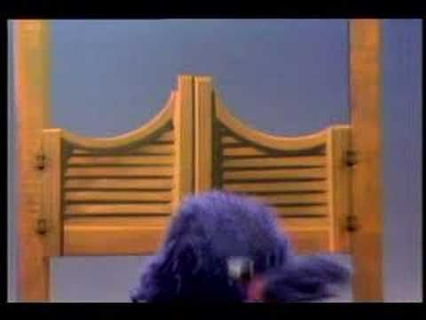 "Sesame Street (Vintage) - Grover ""Over, Under, and Through"" ...cute for reinforcing positional words :o)"
