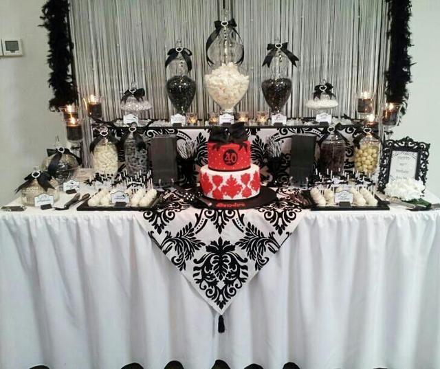 Black And White Birthday Party Ideas