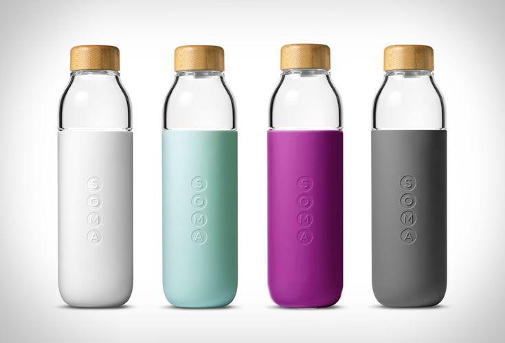 SOMA : Des bouteilles en verre minimalistes et durables - #Gadgets - Visit the website to see all photos http://www.arkko.fr/soma-bouteille-verre-minimaliste/
