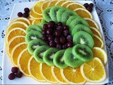 Красивая нарезка фруктов  Украшение праздничного стола. Как нарезать фрукты. Карвинг - YouTube