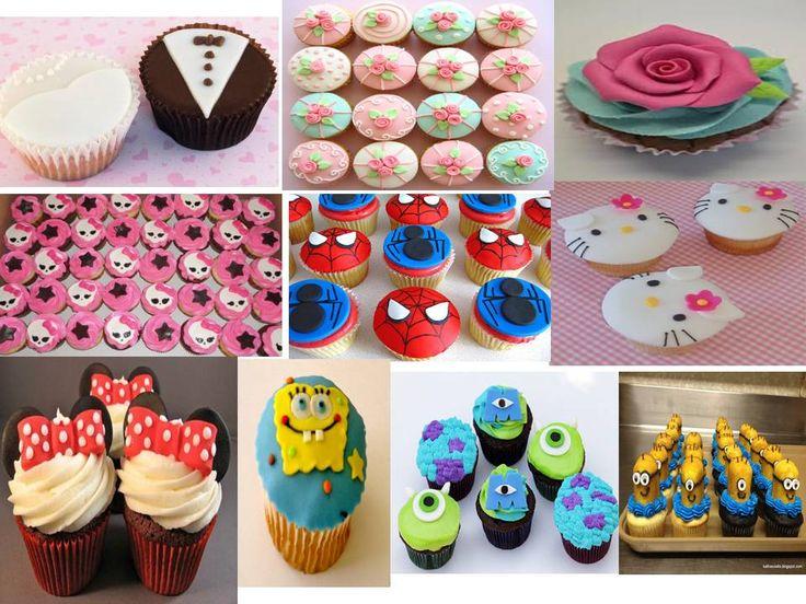 curso cupcakes decorados con fondant