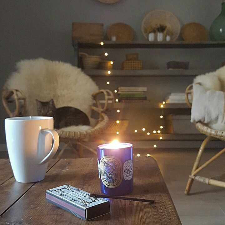 ambiance Cocooning at home...diptyque. ..