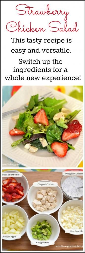 This tasty Strawberry Chicken Salad recipe is easy and versatile.  It is great as a side salad or as a main dish.  By changing up the ingredients you'll give your taste buds a whole new experience!