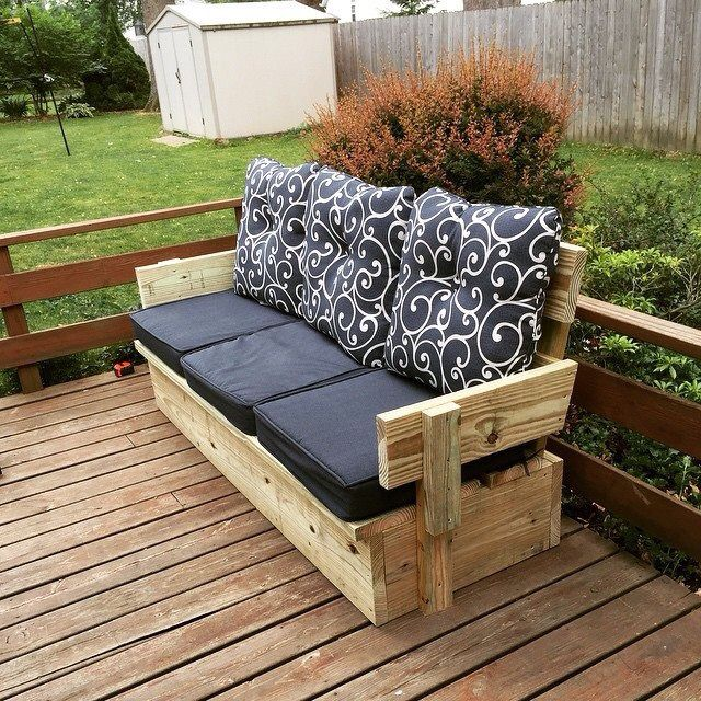 Homemade outdoor furniture!