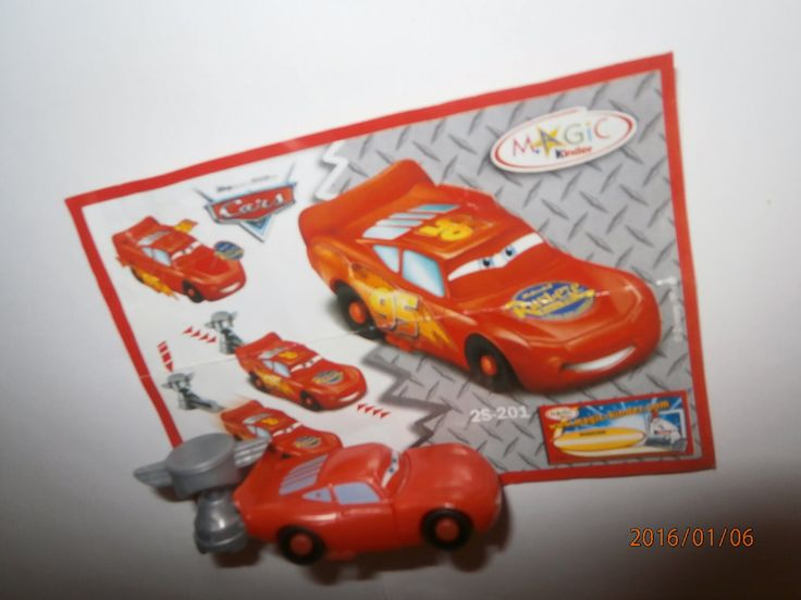 McQueen CARS  Kinder Vajíčka s Prekvapením Hračky Collection 2006