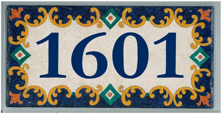 Custom Hand Painted House Number Tile by CarmenAberasturi on Etsy