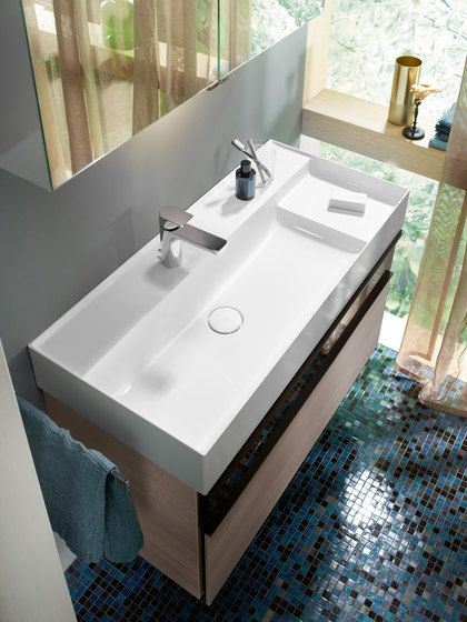 Yumo Mineral Cast Washbasin Incl Vanity Unit By Burgbad Vanity