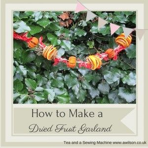 Fruit Garland and Decorations Instructions - Tea and a Sewing Machine