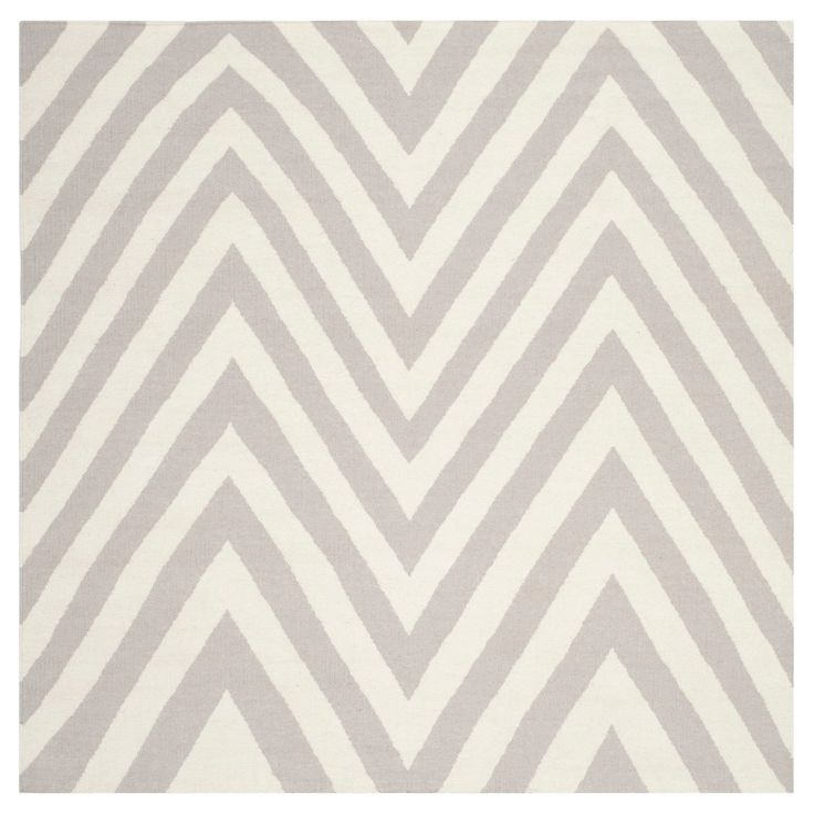 Nala Dhurry Rug - Gray/Ivory - (6'x6' Square) - Safavieh