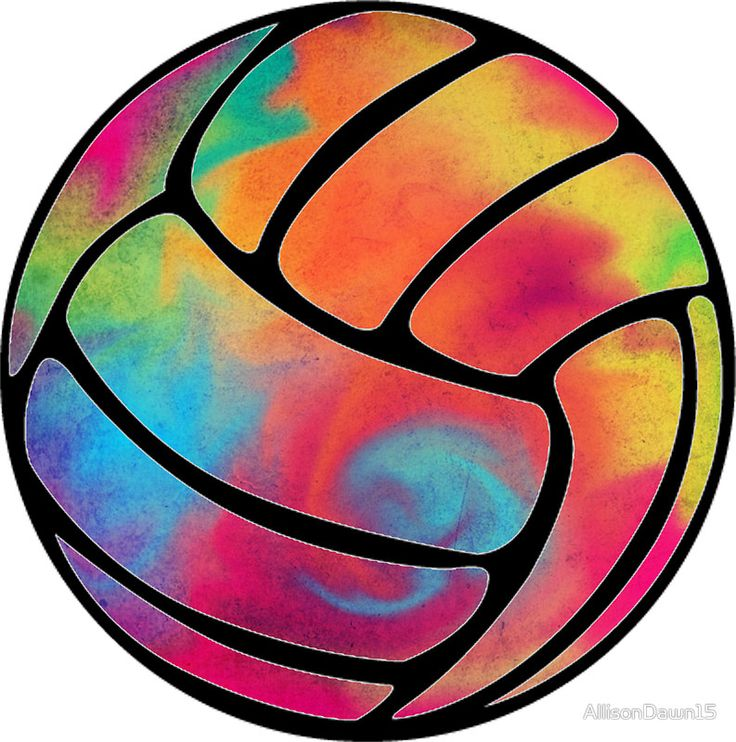 Rainbow Volleyball Sticker By Allisondawn15 Volleyball Designs Volleyball Wallpaper Volleyball