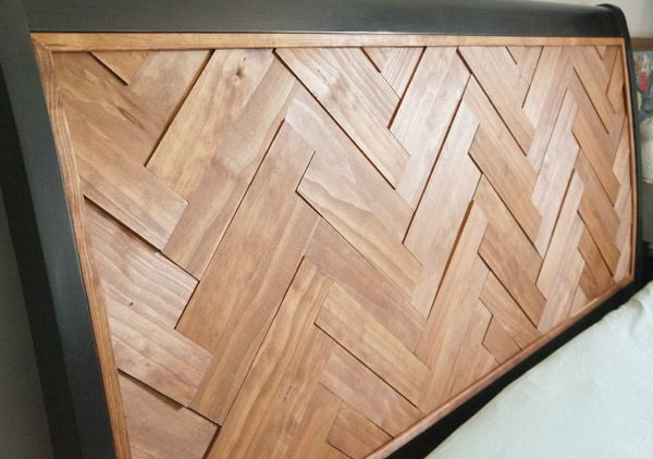 DIY Herringbone Headboard | Copper Dot Interiors